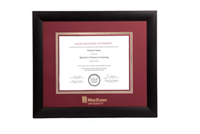Infused Black Diploma Frame