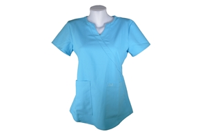 Beach Blue Scrub Top