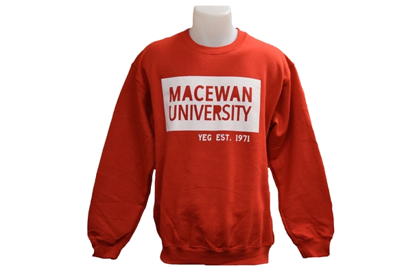 MacEwan x YEG Red Crewneck
